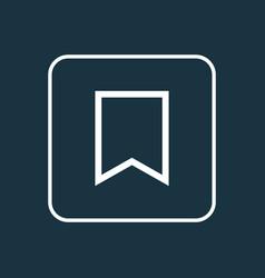 Bookmark outline symbol premium quality isolated vector
