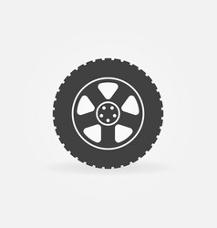 car wheel tire icon vector image