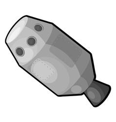 Cartoon spaceship eps10 vector image