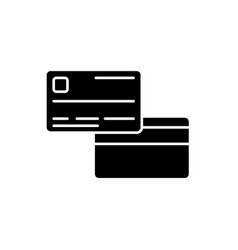 credit card black icon sign on isolated vector image
