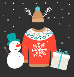 cute winter vector image