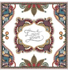 Decorative pattern of ukrainian ethnic carpet vector