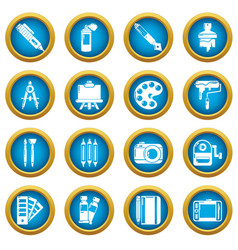 Design and drawing tools icons set simple style vector