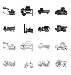 Design of build and construction icon set vector