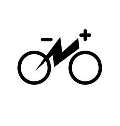 Electric city bike electricity flash lighting vector