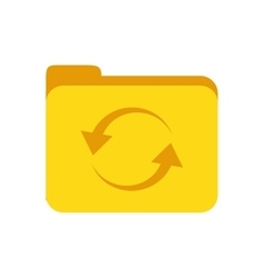 Folder yellow file document icon vector