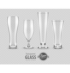 Glasses glasses for beer vector image