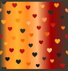 Glowing heart pattern seamless background vector