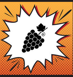 grapes sign comics style vector image