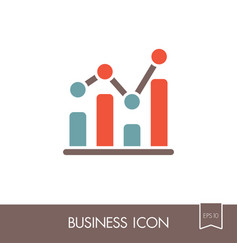 graph in trendy outline icon finances sign vector image