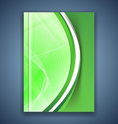 Green eco swoosh line futuristic brochure vector