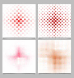 halftone heart pattern background set vector image