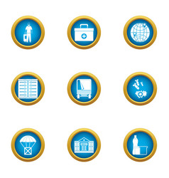 Handout icons set flat style vector