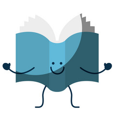 Happy book icon vector