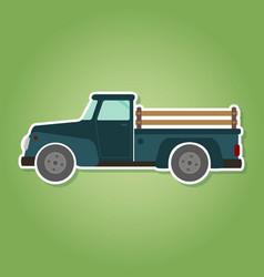 Icon with farm truck vector