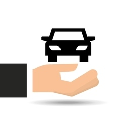 insurance car hand holding icon graphic vector image