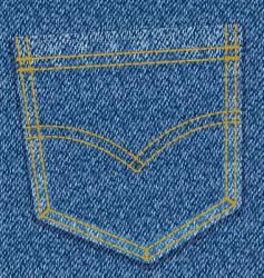 jeans pocket vector image vector image