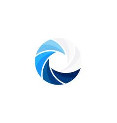 lens wave logo icon design vector image
