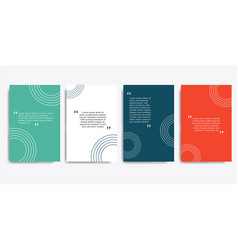 Minimal covers design quote frames blank vector