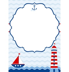 Nautical card vector