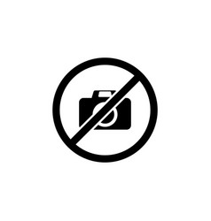 no photo sign icon element of travel icon for vector image