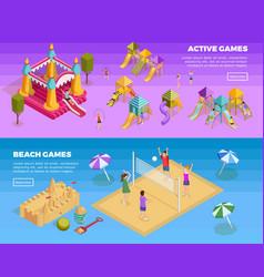 Playground Banner Set vector image