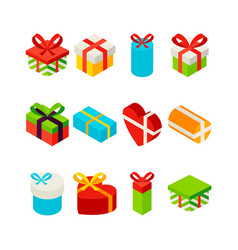 present box isometric set vector image