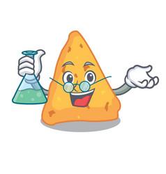 Professor nachos character cartoon style vector