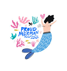 proud marman hand drawn character vector image