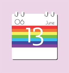 Rainbow Calendar icon vector image