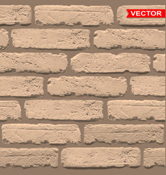 realistic light brown brick wall texture vector image