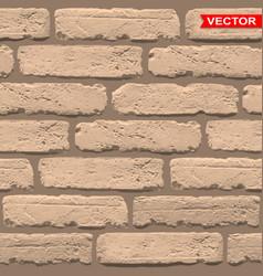 Realistic light brown brick wall texture vector