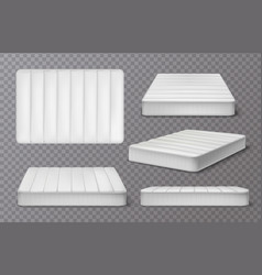 Realistic mattress transparent collection vector