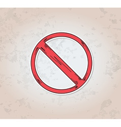 red crossed circle danger sign vector image