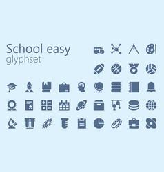 School easy glypset vector
