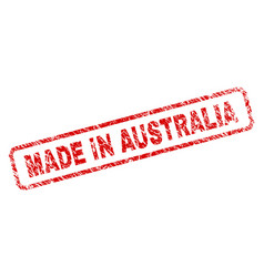 Scratched made in australia rounded rectangle vector