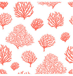 sea reef corals seamless pattern marine abstract vector image
