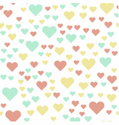 seamless background with pastel color retro heart vector image