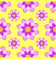 Seamless pattern from pink burgundy flowers on a vector