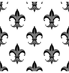 Seamless stylized fleur de lys pattern vector image