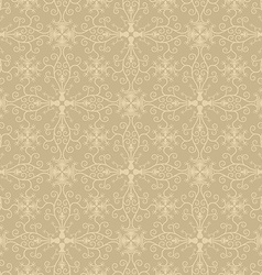 Seamless symmetric vintage floral wallpaper vector