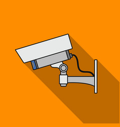 Security camera icon in flat style isolated on vector