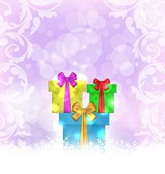 Set Christmas gift boxes vector image