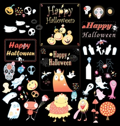 Set for Halloween vector
