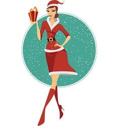 Sexy girl Santa vector image