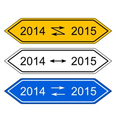 Signpost 2015 vector image