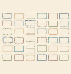 sketch frames album doodle dividers and stylized vector image