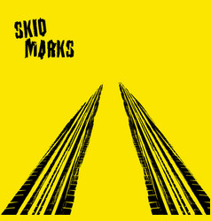 Skid marks vector