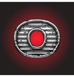steel figure vector image