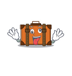 Suitcase with in cartoon bring gift shape vector